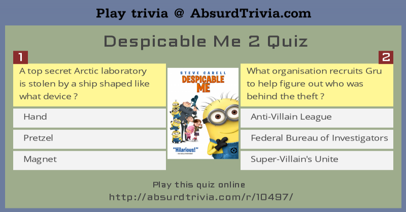 Despicable Me 2 Quiz