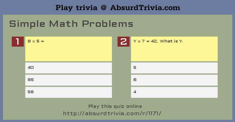 best simple maths questions images