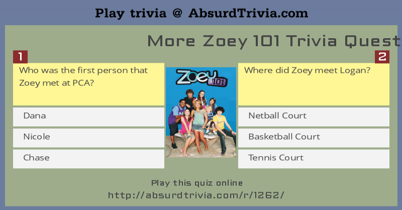 More Zoey 101 Trivia Questions
