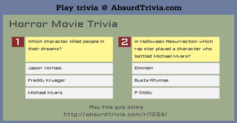 1264 horror movie triviapng - Halloween Trivia With Answers
