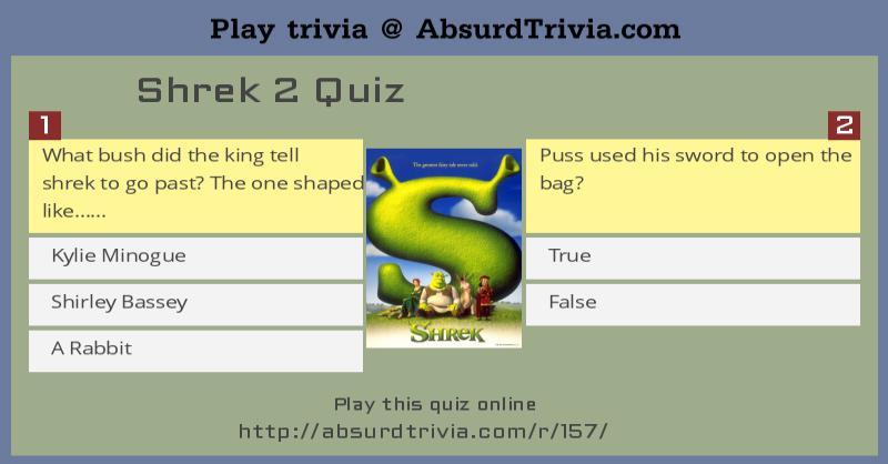Shrek 2 Quiz