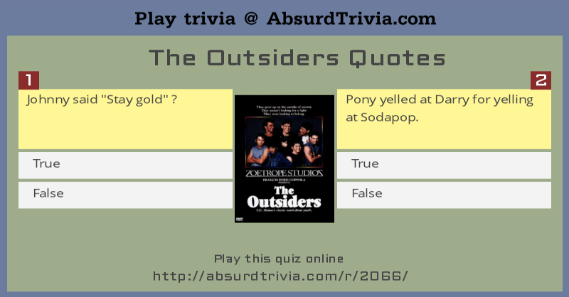 Short essay questions for the outsiders