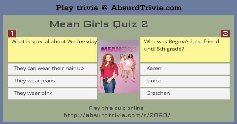 Mean girls quiz Nude Photos 12