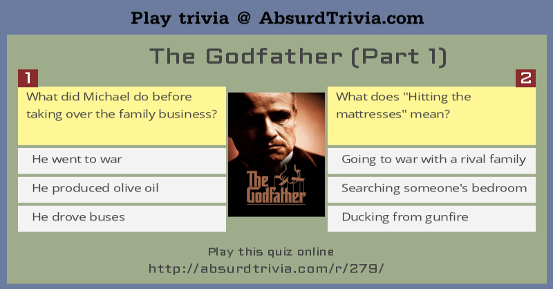 trivia quiz the godfather part 1