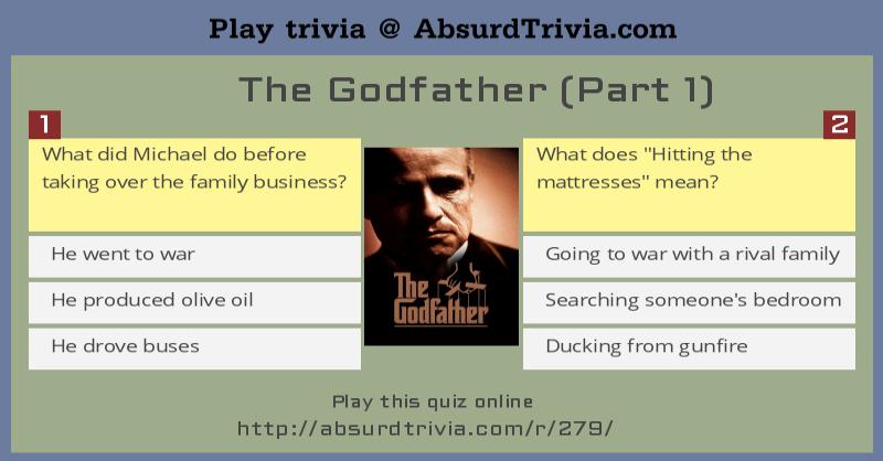 trivia quiz the godfather part 1