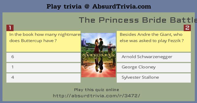 trivia quiz the princess bride battle of wits