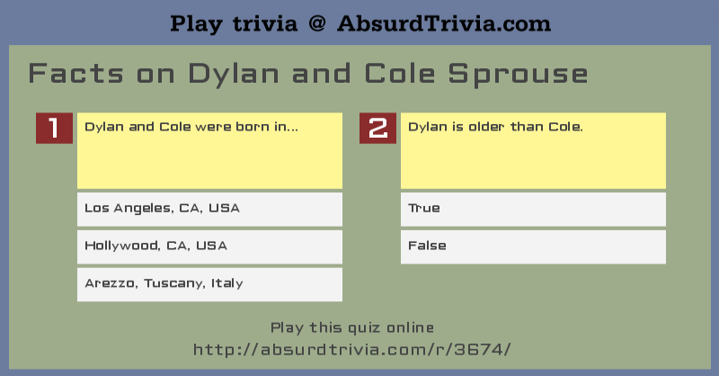 Trivia Quiz Facts On Dylan And Cole Sprouse