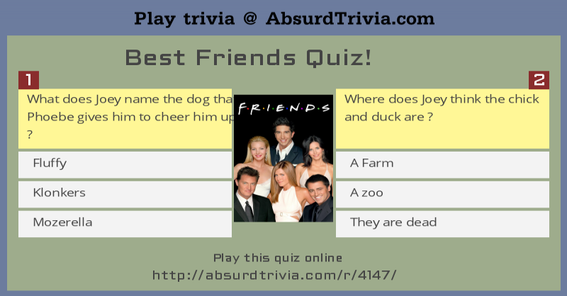 Best Friends Quiz