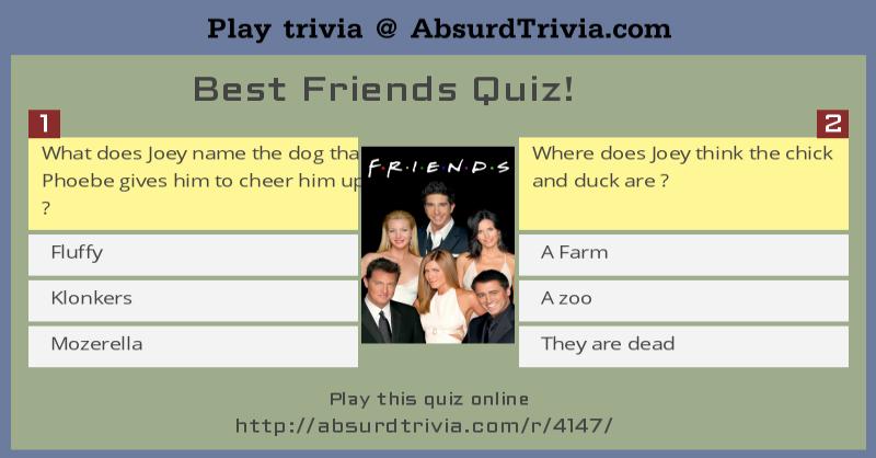 Best Friends Quiz
