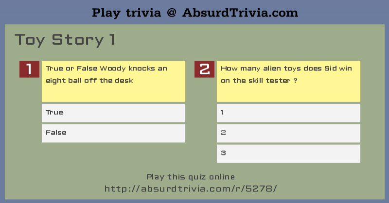 True Or False Questions - ReadyMadePubQuiz.com