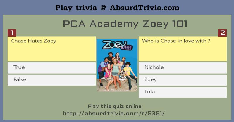 Trivia Quiz Pca Academy Zoey 101