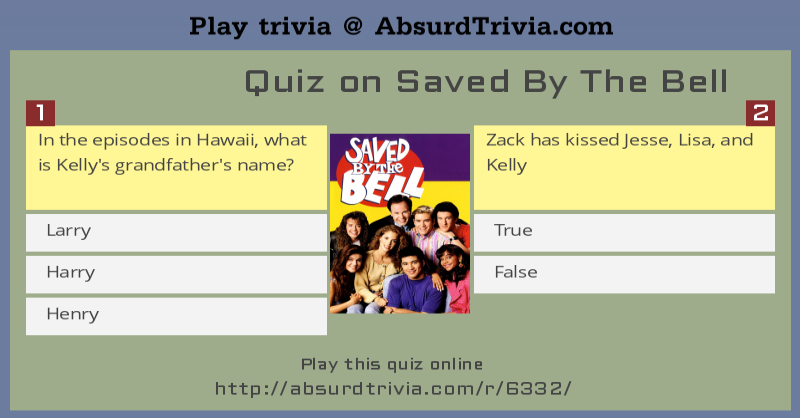 Trivia Quiz : Quiz on Saved By The Bell