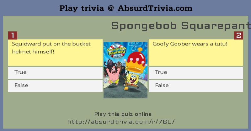 Spongebob Squarepants Movie Trivia