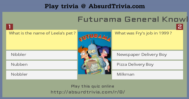 Futurama General Knowledge Quiz