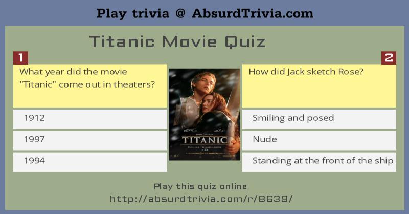 Titanic Movie Quiz
