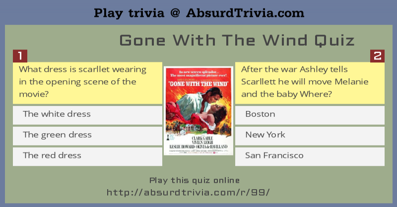 gone with the wind quiz